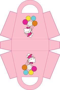 Hello Kitty Birthday Party Gift Box Printable by allforparty