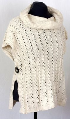 abc22690f04f97 ~inspiration~ Lana D Oro Lady Poncho By Vera Sanon - Free Knitted Pattern -  Scroll To Photo For PDF Pattern - (cascadeyarns)
