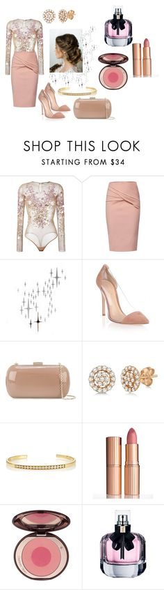 """""""#Skirt Set No. 453"""" by vintagelady52 ❤ liked on Polyvore featuring Amen, WtR, DOMESTIC, Gianvito Rossi, Sergio Rossi, Allurez, Sara Weinstock, Charlotte Tilbury and Yves Saint Laurent"""