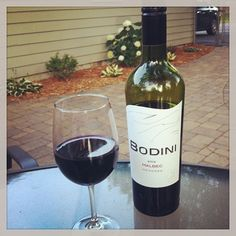 Wine night with @wiedence #bodini #malbec #patio #summer #sisters #weekend