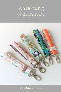 Sew simple lanyard - really great from fabric remnants. Sew simple lanyard - really great from fabric remnants. Sewing Patterns Free, Free Sewing, Knitting Patterns, Sewing Hacks, Sewing Tutorials, Sewing Crafts, Sewing Tips, Craft Tutorials, Beginner Sewing Projects