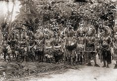 The upper echelon of Samoan society greeting an incoming party. The solemn looks on their faces looks like they are meeting with some of the German Adminstration Representatives that locked, loaded and imposed themselves into every facet of Samoan society for many years...