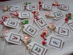 Cross Stitch Gift Tags Cross Stitch Christmas Cards, Xmas Cross Stitch, Cross Stitch Needles, Cross Stitch Cards, Christmas Gift Tags, Christmas Cross, Cross Stitching, Cross Stitch Embroidery, Cross Stitch Designs