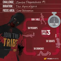 zombie apocalypse workout! This may be something I should look into considering I am terrified of Zombies