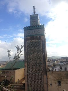 Mosque view from #cafeclock #fez #morocco