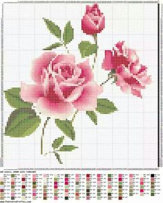 This post was discovered by Lina Kostenko. Discover (and save!) your own Posts on Unirazi. Cross Stitch Love, Cross Stitch Flowers, Counted Cross Stitch Patterns, Cross Stitch Charts, Cross Stitch Designs, Cross Stitch Embroidery, Hand Embroidery, Beading Patterns, Embroidery Patterns