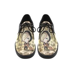 Yuri On Ice Leopard Brogue lace up Men's shoes (Model 024)