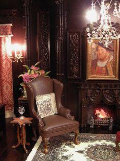 Tudor/Gothic Revival Style Room Box for Julie B.