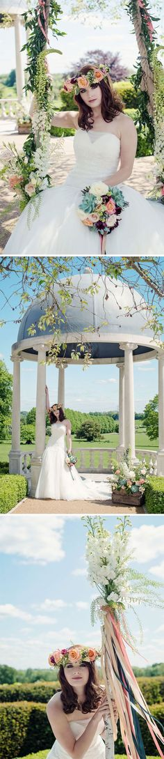 The outdoor dome, gardens and swing at Froyle Park all provided the perfect backdrop for this boho themed styled shoot
