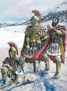 Asdrubal en la batalla de Baecula, cortesía de Pablo Outeiral. Más en www.elgrancapitan.org/foro
