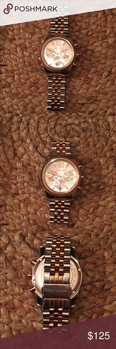 Michael Kors Tri Tone Watch Michael Kors Tri Tone Watch. Rolex Style Band. Moderately lived in and worn. But in very very good condition. Michael Kors Accessories Watches