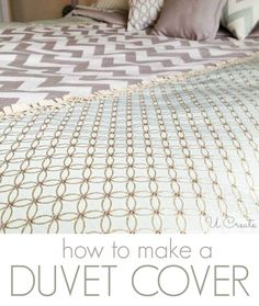 How to Make a Duvet Cover www.u-createcrafts.com