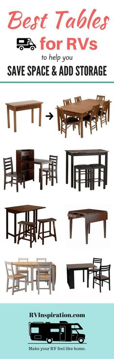 Best dining tables for motorhomes, campers, and travel trailers | RV furniture