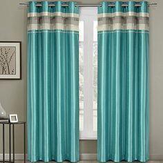 Pair of Two Top Grommet Blackout Thermal Insulated Curtain Panels, Triple-Pass Foam Back Layer, Elegant and Contemporary Milan Blackout, Blue, 54' W by 108' L Each Panel (108' W by 108' L Pair) >>> Hurry! Check out this great product (This is an amazon affiliate link. I may earn commission from it)