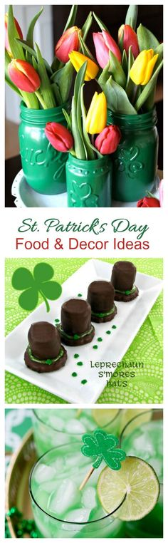 These 18 St. Patrick's Day fun food & decor projects will really set the mood for your St. Paddy's day gathering.