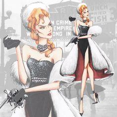 Helga Sinclair by Guillermo Meraz - Disney Villains Haute Couture