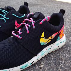 Custom Nike Roshe Run what the south beach mint by WonkyArtGirl, $175.00