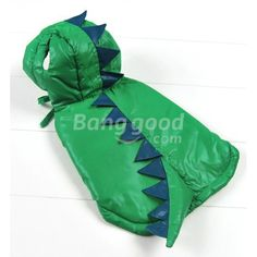 Dinosaur Hooded Dog Clothes Costume Pet Windbreaker