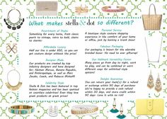 Why love Stella & Dot?! There are a million reasons, but here are a few great ones! If you want to order go to www.stelladot.com/shannonjschneider or message me to host a trunk show, either in person or online!!
