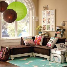 Cushy Lounge Sectional Set + Base   PBteen
