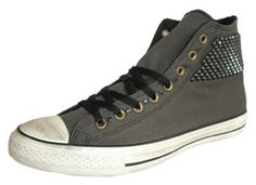 Converse Unisex Chuck Taylor Hi Side Studs All Star Sneaker Charcoal 10 MenWomen 12 *** Check out this great product.