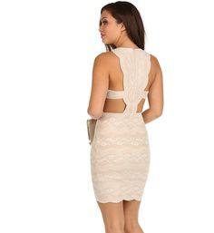 Ivory Lady Like Dress