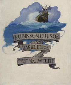 Robinson Crusoe, title page illustration 1920 Oil on canvas