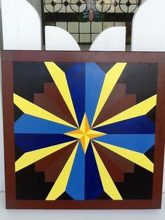 Barn Quilt 2'x2' nice colors would look great by PYsBarnQuilts