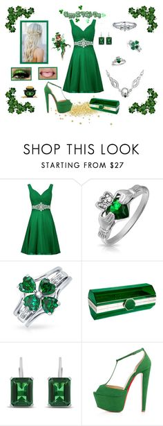 """""""St. Patrick's Day"""" by destinystarr772 ❤ liked on Polyvore featuring Bling Jewelry, Yazi and Christian Louboutin"""