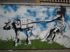 "Eelus Banksy-Winged Girls graffiti 24/""x36/"" Canvas Art"