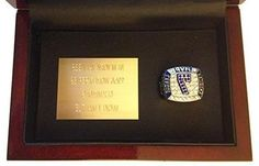 New York Yankees Mickey Mantle 1956 World Series Ring Display - Rare Replica with Cherry Wood Case & Custom Plaque - Baseball Memorabilia Shipped from USA