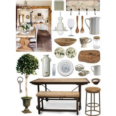 Rustic Mediterranean by ladomna on Polyvore featuring interior, interiors, interior design, home, home decor, interior decorating, Classic Home, Garden Trading, Jan Kurtz and Arte Italica