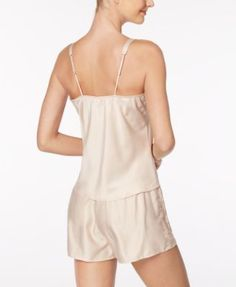 Flora by Flora Nikrooz Cindy Lace-Trimmed Cami & Shorts Pajama Set - Tan/Beige XL
