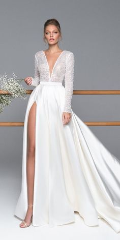 V Neck Floor Length Long Sleeves Hall Wedding Dress V-Neck . - V-neck floor length long sleeves hall wedding dress V Neck Floor Length Long Sleeve - Long Sleeve Wedding, Wedding Dress Sleeves, White Wedding Dresses, Bridal Dresses, Wedding Gowns, Dresses With Sleeves, Wedding Venues, Maxi Dresses, Long Sleeve Gown