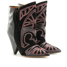 Isabel Marant Berry Ankle Boots With Cut-Out Appliqué ($1,155) ❤ liked on Polyvore