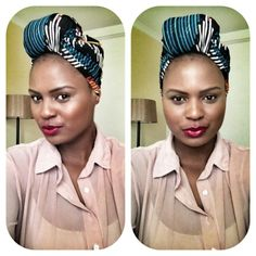 Wonderful overall style and a great head wrap in an different shape.-TMC~~head wrap