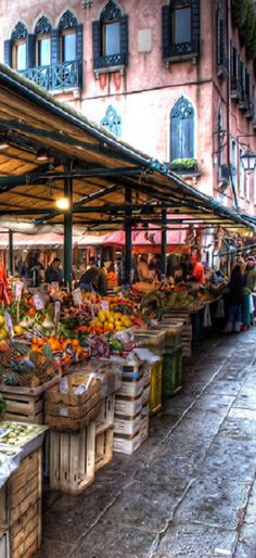 Venice Market, Italy. Can't believe I will be there in less than 2 months