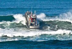 Coast Guard rescue boat in Oregon