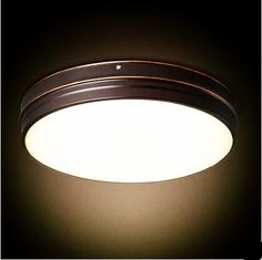New Pattern Wooden brief modern Led Ceiling Light D350 24W AC85 265V