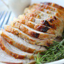 Rosemary Maple Mustard Pork Roast at laurenslatest.com