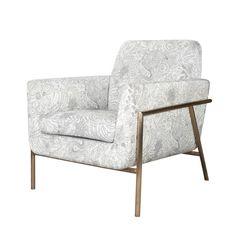 单人沙发 金属框架+布艺软包 芝系列 W770*D850*H830 mm
