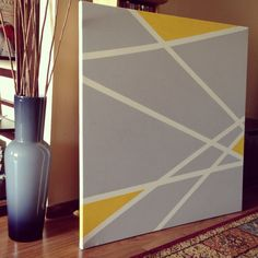 Geometric abstract lines painting.
