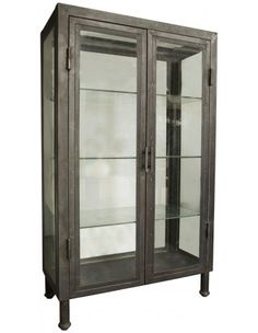 Metal Bar Cabinet Etageres Accent Furniture Living Room Dining