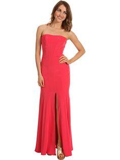 55% Off Now $216.99 ABS Allen Schwartz - Long Strapless #Gown w/Front Slit (Watermelon) - #Apparel http://freeprintableshoppingcoupons.com #Dress