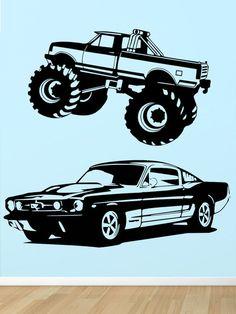 Humvee Decal Vinyl Wall Sticker Art Boys Room Ameriacn Muscle Car