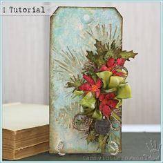 Tammy Tutterow Tutorial | Stickles Glazed Holiday Tag