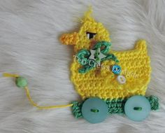 Appliques and Embellishments Crochet Patterns by Teri Crews - Duck on Wheels Appliquehttps://www.youtube.com/watch?v=XxGeJILz3bQ