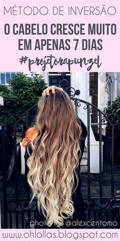 #ProjetoRapunzel | O método de inversão capilar faz o cabelo crescer mais rápido em apenas 7 dias (1 semana). Pode incluir no cronograma capilar, é liberado para no e low poo, para cabelos lisos e cabelos cacheados. Feito com massagem capilar e óleos vegetais como óleo de rícino, coco, abacate e azeite de oliva. #cronogramacapilar #cabelocrescer #ohlollas #inversiomethod The Inversion Method for Hair: Grow an Inch of Hair in 7 Days