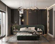 Studio Apartment on Behance Modern Mansion Interior, Luxury Homes Interior, Interior Design, Master Bedroom Design, Modern Bedroom, Neoclassical Design, Studio Apartment Layout, Dream Home Design, Apartment Interior