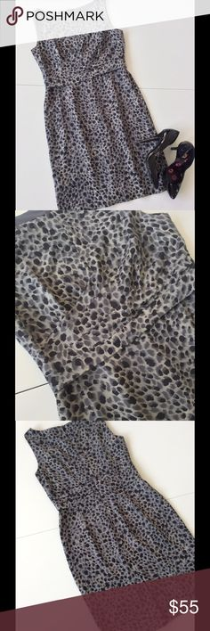 """🆕Listing Ann Taylor Animal Print Silk Dress Soft, flattering and gorgeous! Tuck and draping detail on waist & bodice. Back hidden zipper & kick vent. Fully lined. Excellent pre-owned condition. Worn once. 93% silk 7% spandex polyester/spandex lining. Dry clean. 36"""" Bust 30"""" waist 36"""" hip 34.5"""" length from shoulder. Heels listed separately  🎀Bundle discount  ⭐️5 star rated Suggested User 🚭Smoke free home 🚫No trades please  😍 Thank you for shopping with me. Please ask all questions before…"""